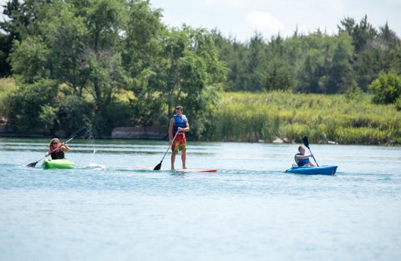 Kayaking at Granite Springs Lodge.