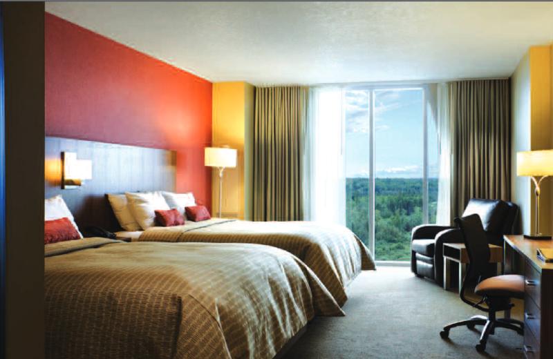 Guest room at Black Bear Casino Resort.