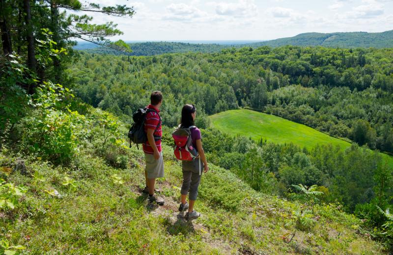 Hiking at La Montagne Coupee.