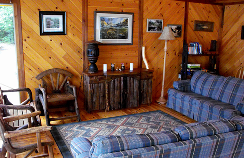 Cabin Interior at Garden Island Lodge