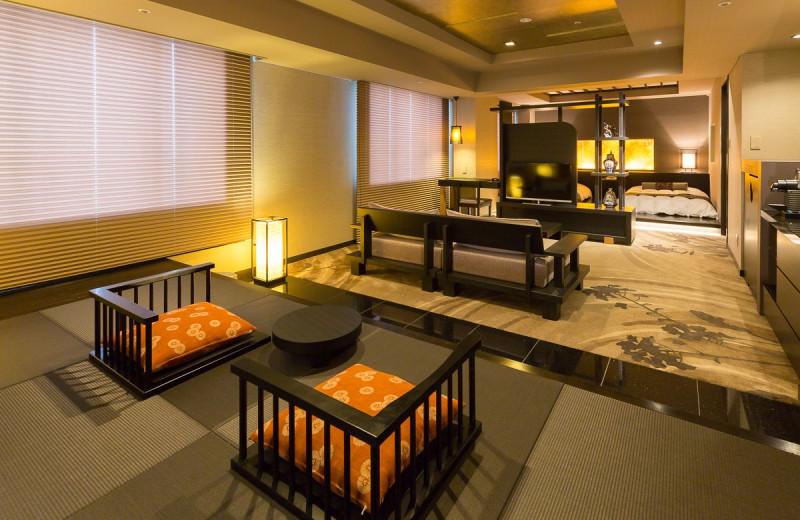 Guest room at Hotel Narita Tokyu.