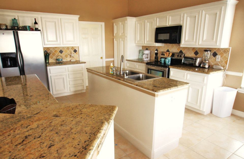 Vacation rental kitchen at Ryson Vacation Rentals.
