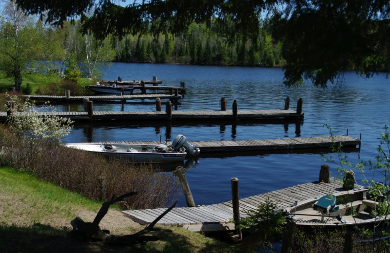 Boat docks at Mattila's Birch Lake Resort.