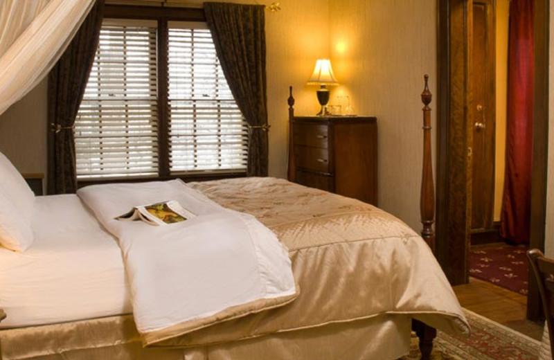 Guest room at Golden Lantern Inn.