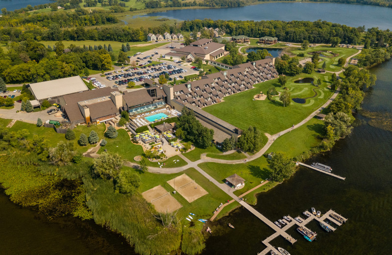 Aerial view of Arrowwood Resort and Conference Center.