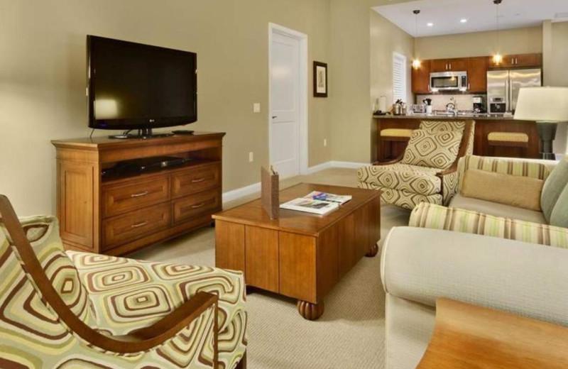 Guest living room at Honua Kai Resort & Spa.