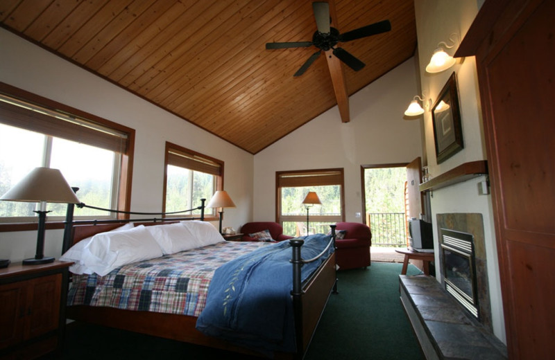 Guest room at Bear Creek Lodge.