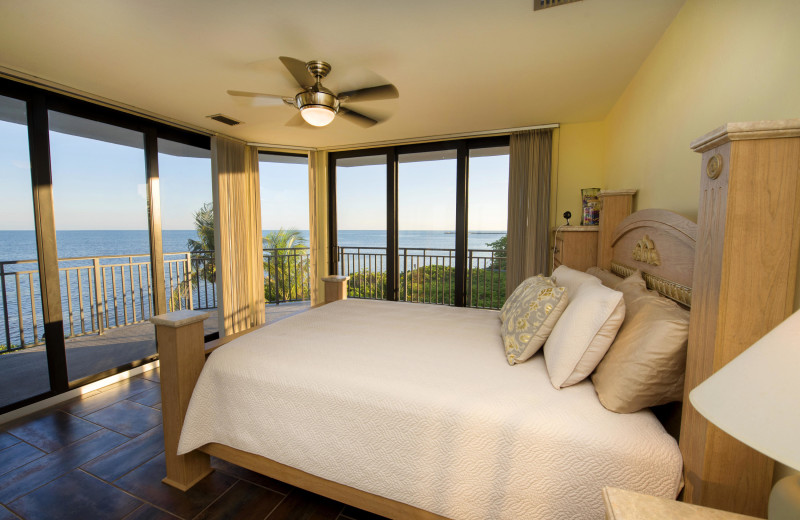 Rental bedroom at 1800 Atlantic, All Florida Keys Property Management.