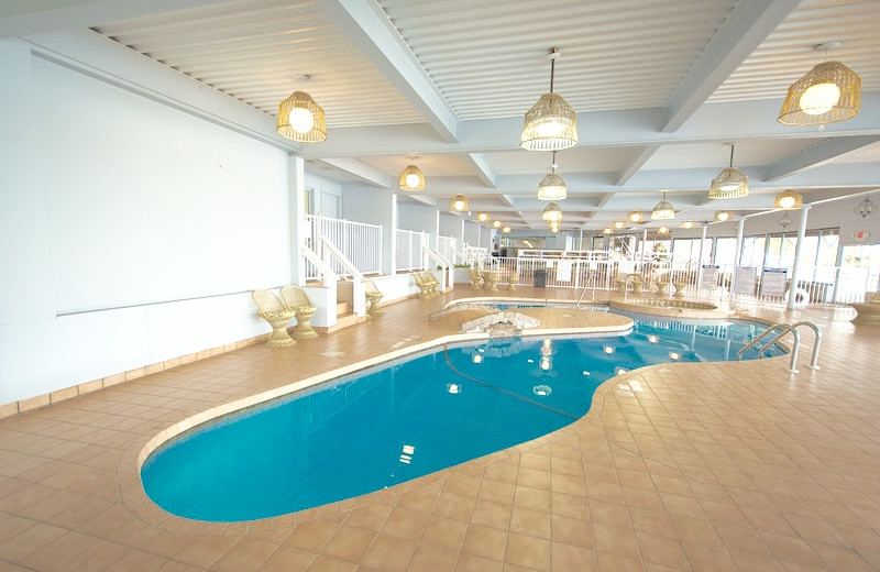 Indoor pool at Bonnie Castle Resort.