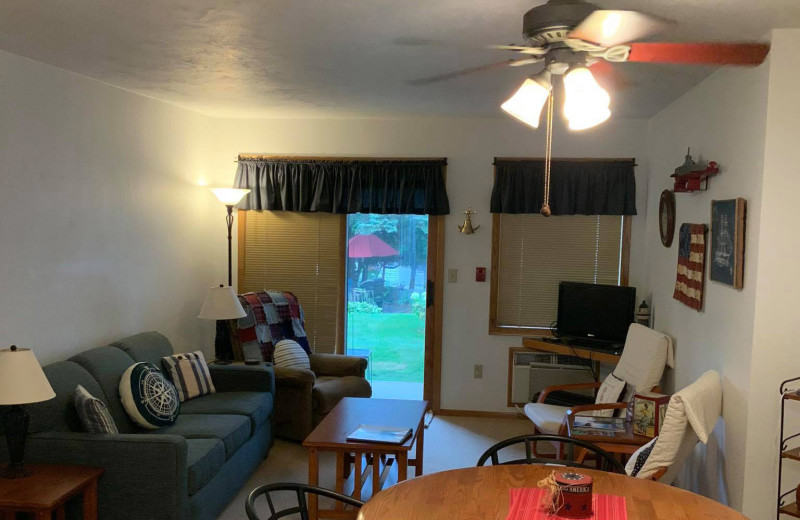Guest room at Ephraim Guest House Condominiums.