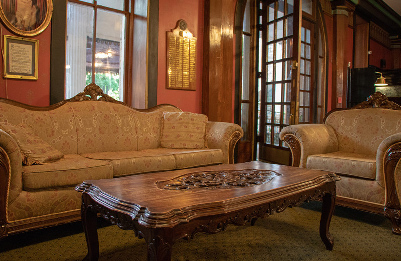 Guest living room at 1886 Crescent Hotel & Spa.