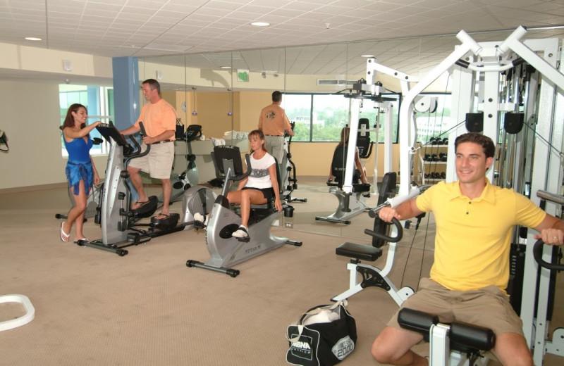 Fitness center at Avista Resort.