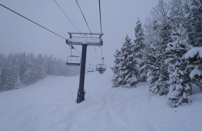 Ski lift near Three Rivers Resort.