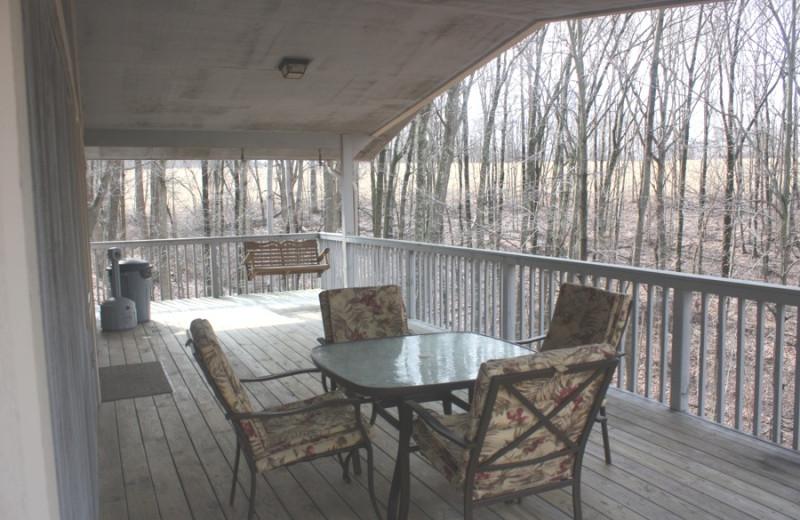 Cabin deck at Heritage Cabin.