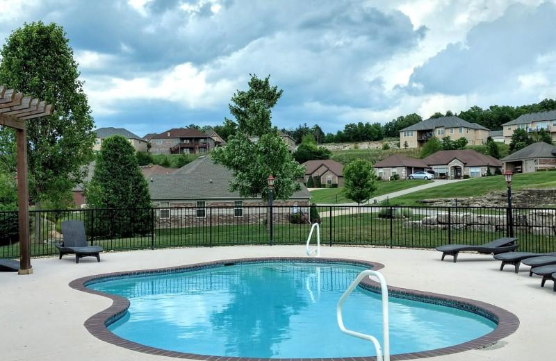 Outdoor pool at LuLas Getaway.