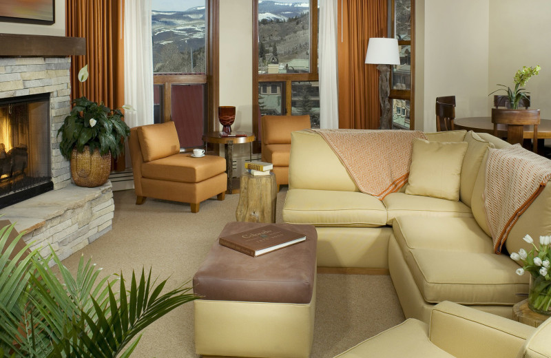 Guest living room at The Osprey at Beaver Creek, A Rock Resort.