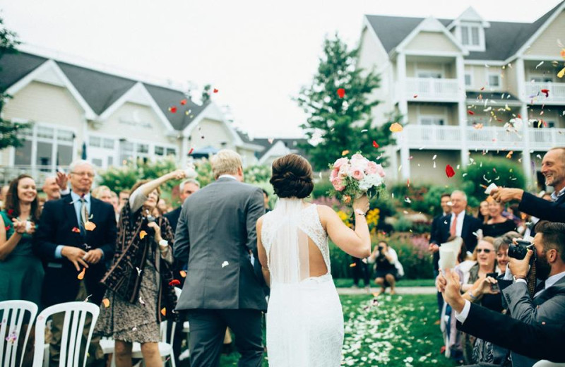 Wedding at Bay Pointe Inn Lakefront Resort.