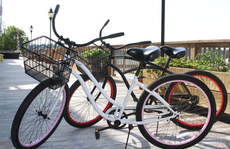 Biking at Smithfield Station.