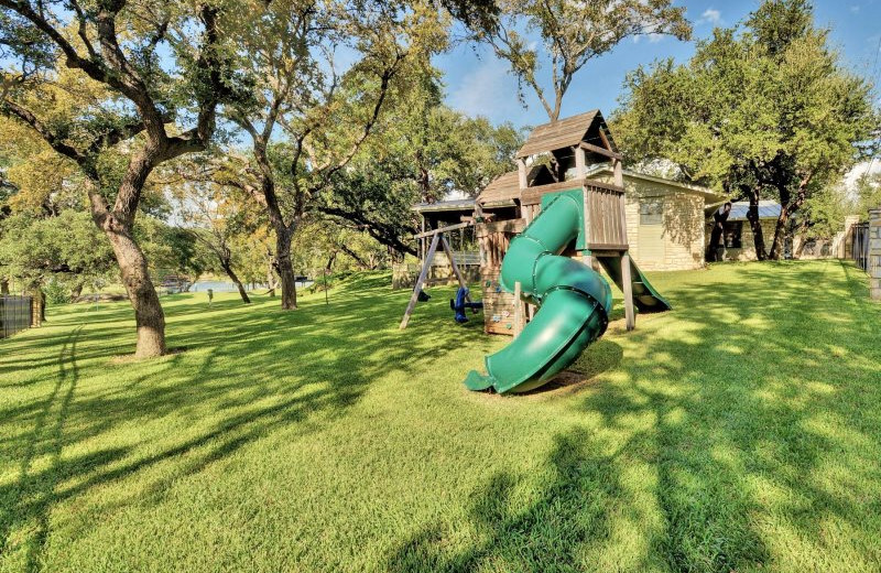 Rental playground at Shady Grove Vacation Home on Lake LBJ.