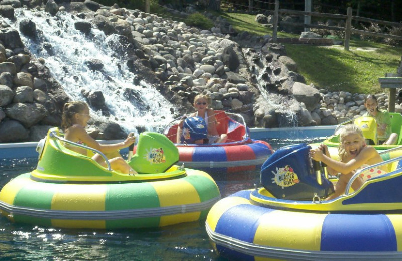 Bumper boats at Northwoods Lodge.