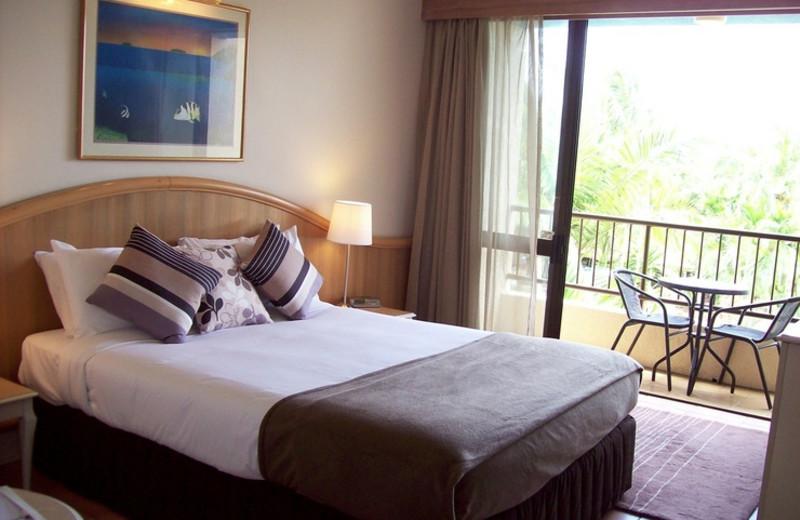 Guest room at Capricorn International Resort.