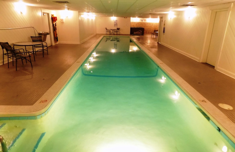 Indoor pool at Garland Lodge and Resort.