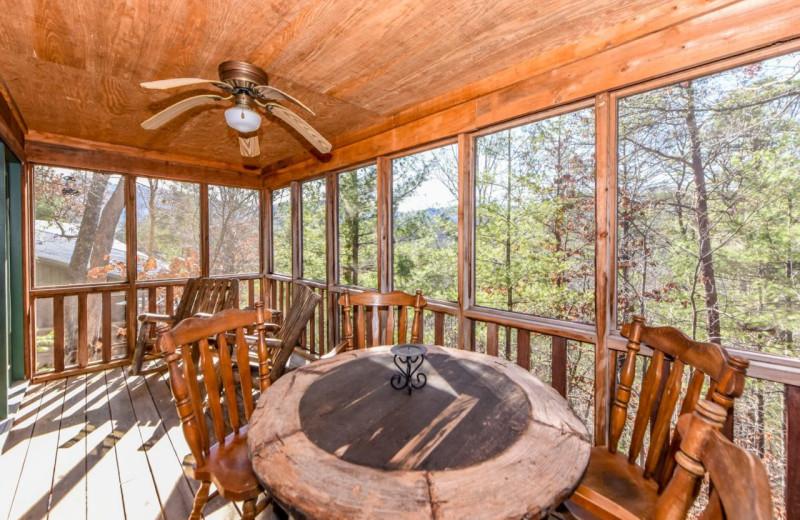 Cabin deck at Dogwood Cabins LLC.