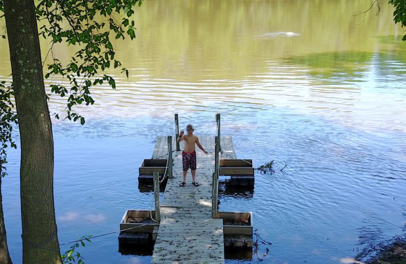 Fishing at Yogi Bear's Jellystone Park™ Camp-Resort in Gardiner, NY.