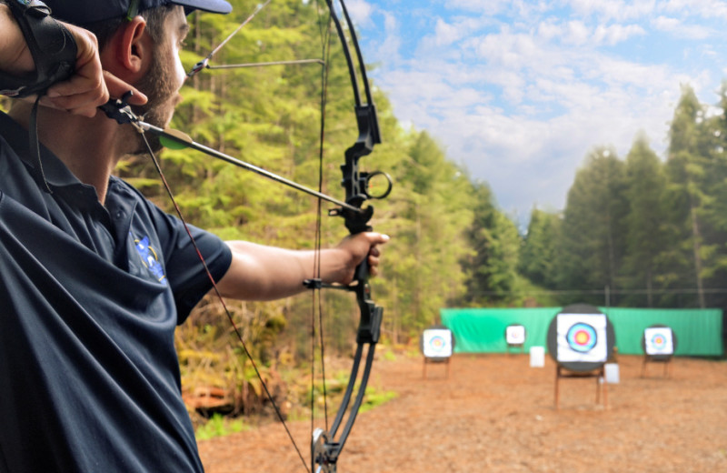 Archery at Sonora Resort and Conference Centre, Canada.