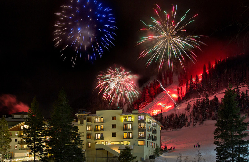 Fireworks at Edelweiss Lodge and Spa.