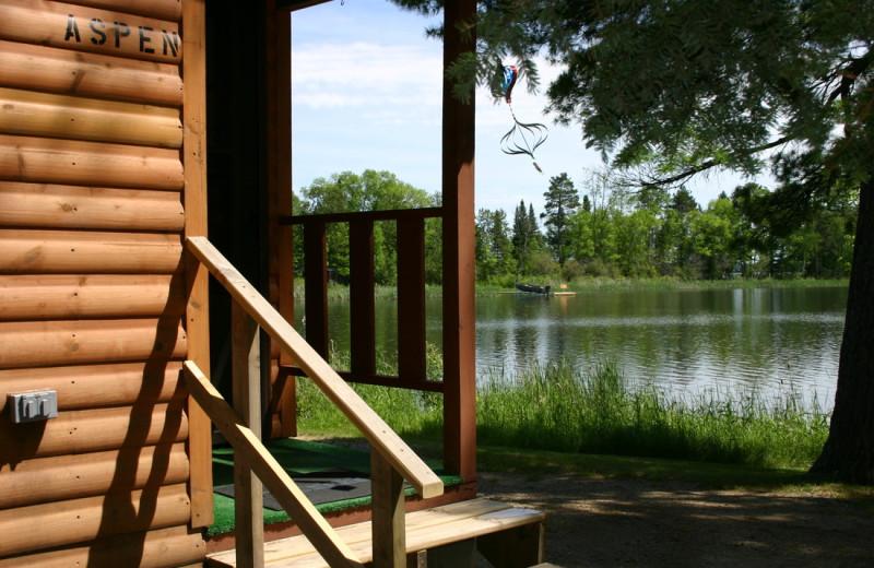 Cabin exterior at Twin Springs Resort.