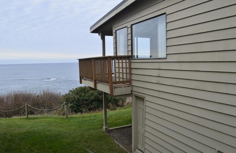 Beach house exterior at Surfrider Resort.