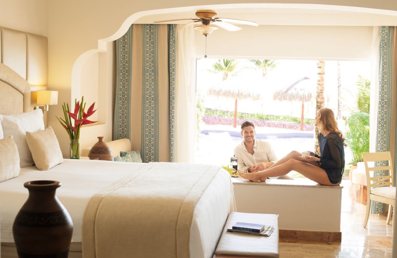 Guest room at Excellence Riviera Cancun.