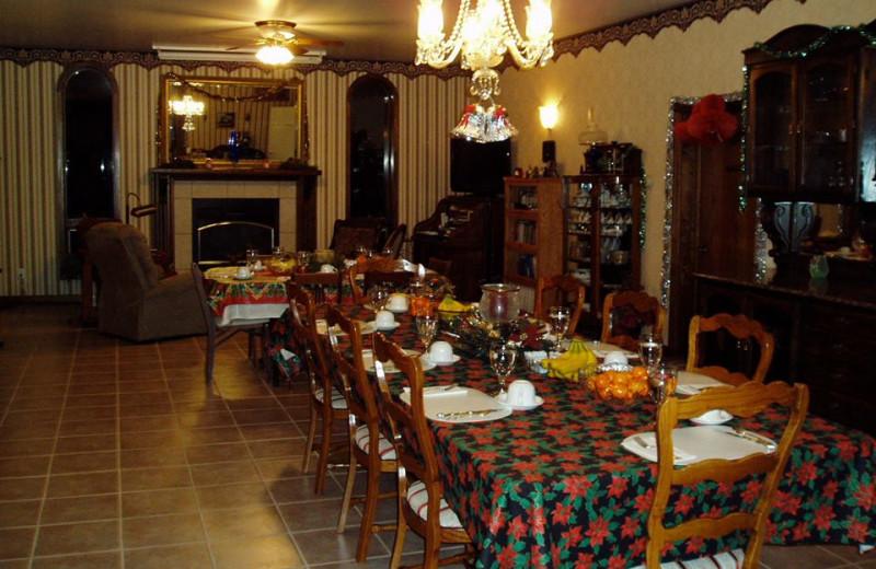 Dining at Wildwood Inn Bed & Breakfast.