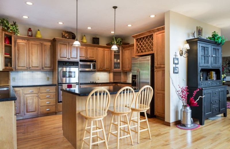 Rental kitchen at Premier Vacation Rentals.