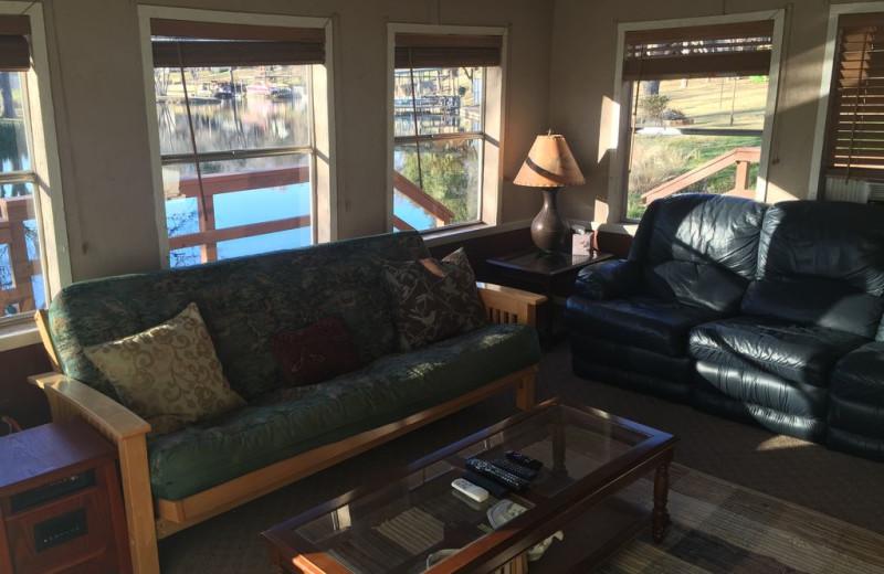 Living room at The Secret Cabin.