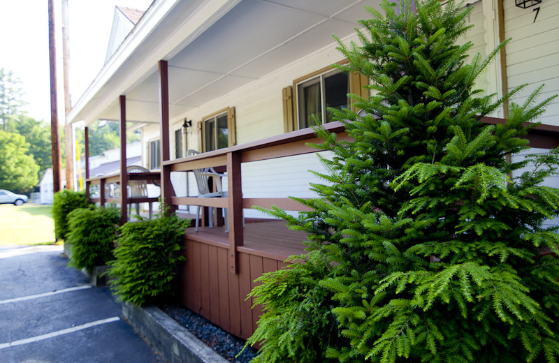 Motel exterior at Riverbank Motel & Cabins.