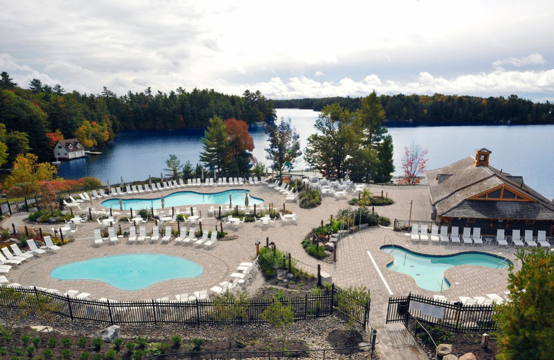 Outdoor pools at JW Marriott The Rosseau Muskoka Resort & Spa.