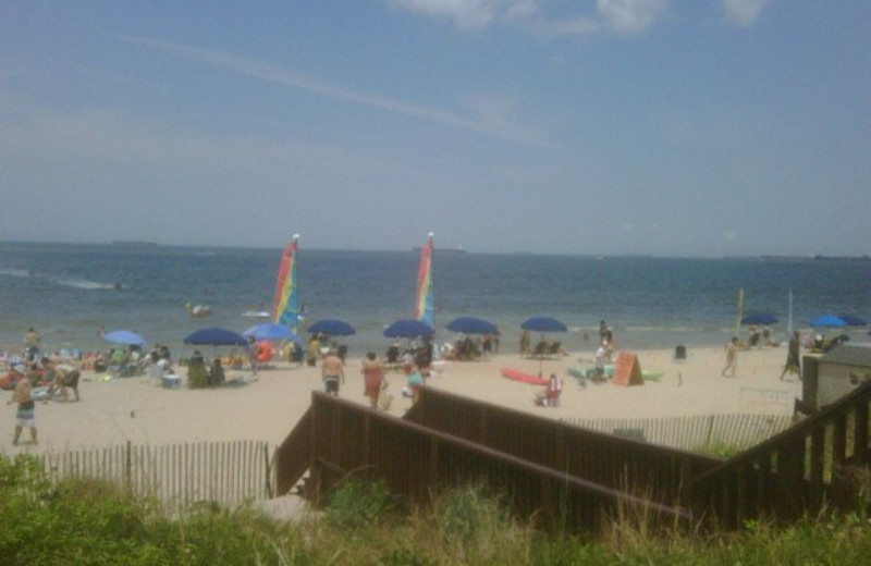 Beach view at Virginia Beach Resort Hotel.