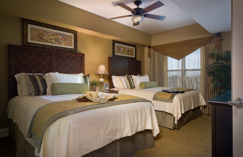 Guest bedroom at Holiday Inn Club Vacations at Orange Lake Resort.