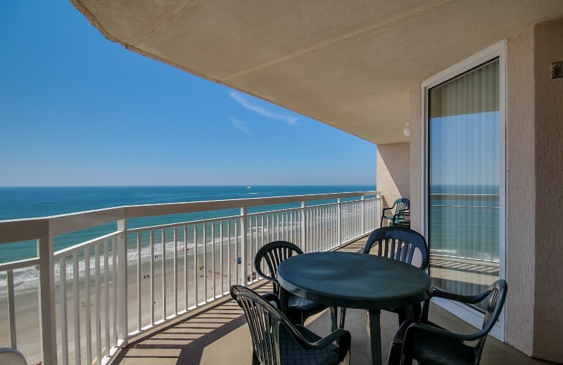 Rental balcony at Seaside Vacations.
