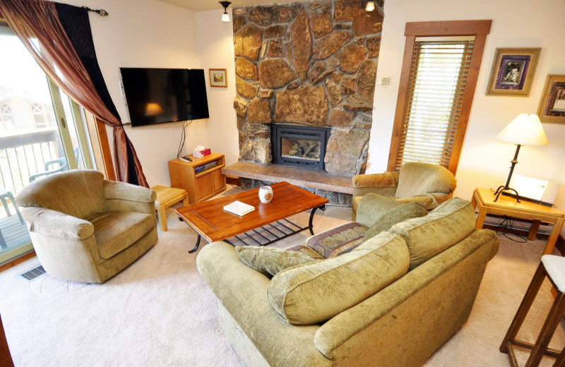 Rental living room at Steamboat Lodging Properties.