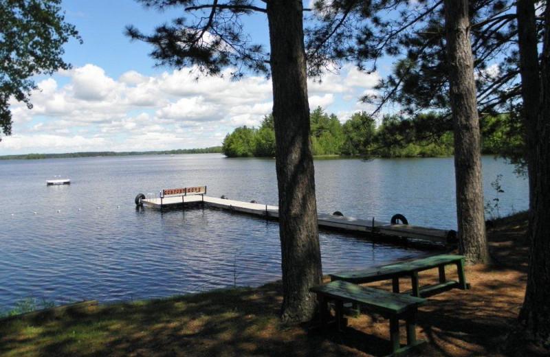 Lake view at Comfort Cove Resort.