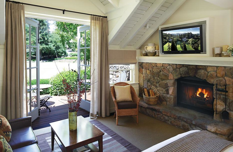Interior suite view at Meadowood Napa Valley.