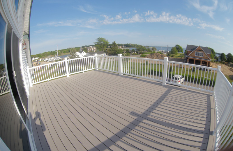 Guest deck at A Victorian On The Bay.