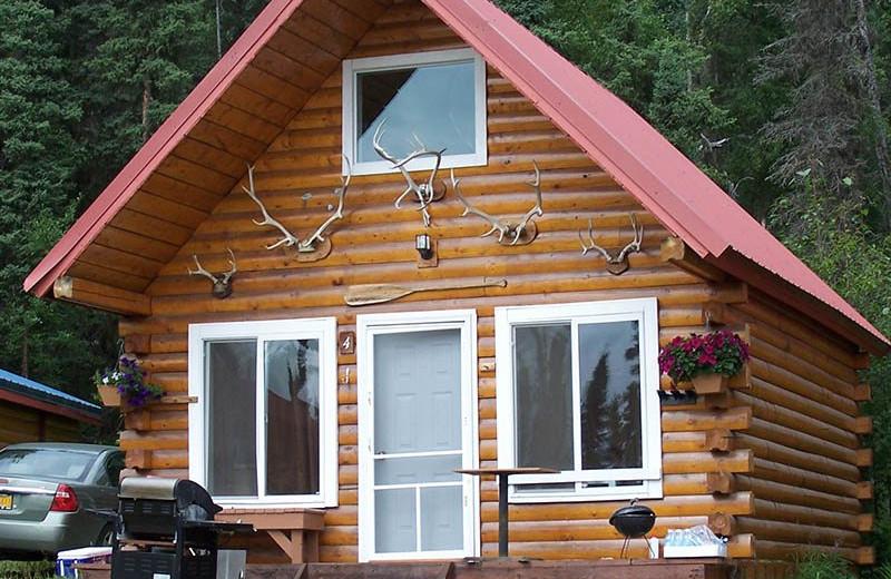 Cabin exterior at Big Sky Charter & Fishcamp.