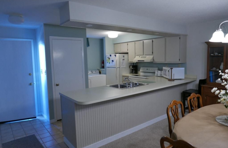 Rental kitchen at Realty World - First Coast Realty.