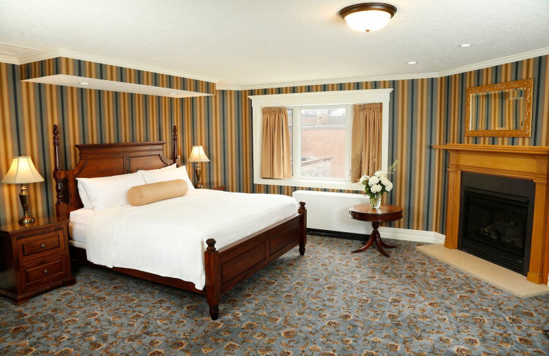 Guest room at St. James Hotel.