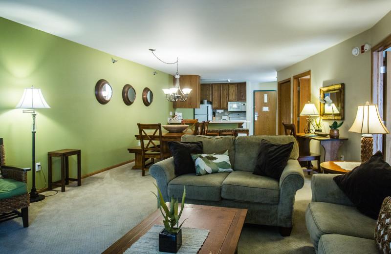 Living Area at The Cove of Lake Geneva.