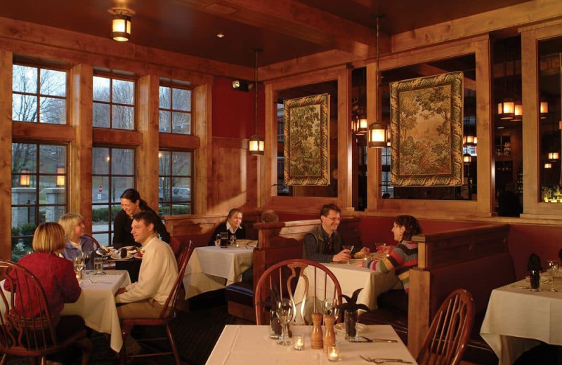 Dining at Crystal Mountain Resort and Spa.